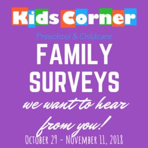 Kids Corner Family Surveys